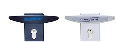 Lås med europacylinder. Som tillval finns även lås förberett för assa ovalcylinder.